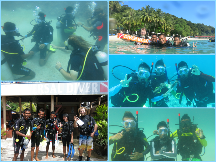 Yay to our first batch of local divers who would help us in the dive surveys!
