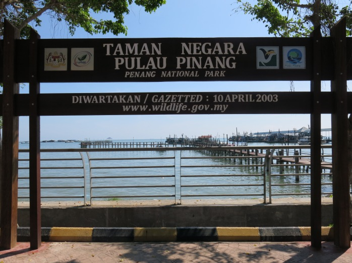 Penang National Park and the entrance to hike to the Turtle Sanctuary