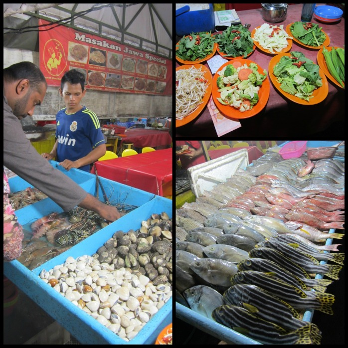 Seafood dinner at night market